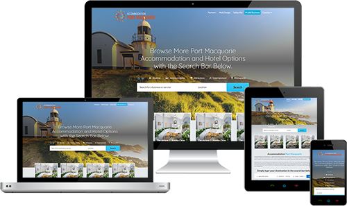 Accommodation Port Macquarie displayed beautifully on multiple devices