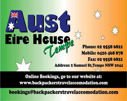 Aust Eire House Tempe - Accommodation Port Macquarie