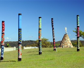 Maclean Tartan Power Poles - Accommodation Port Macquarie